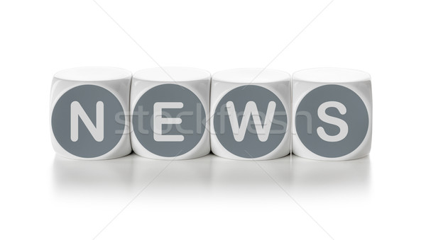 Letter dice on a white background - News Stock photo © Zerbor