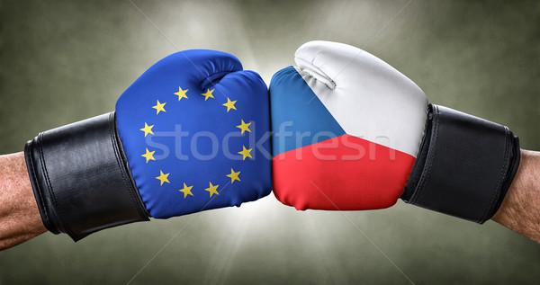 Box gyufa európai szövetség Csehország üzlet Stock fotó © Zerbor