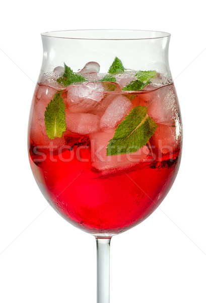 Cocktail with campari and mint Stock photo © Zerbor