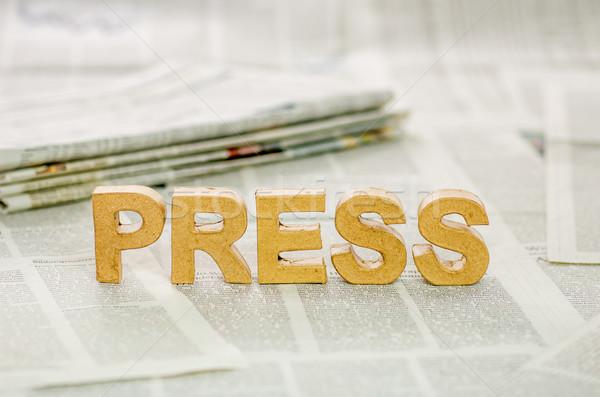 Press Stock photo © Zerbor