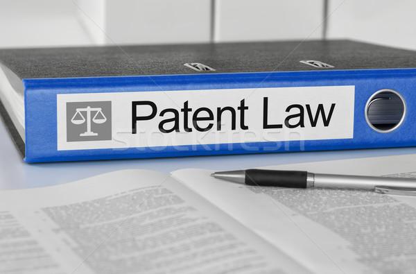 синий папке Label патент прав пер Сток-фото © Zerbor