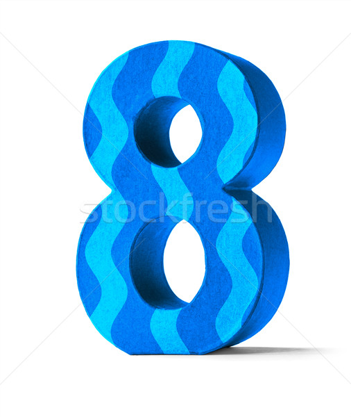 Colorful Paper Mache Number on a white background  - Number 8 Stock photo © Zerbor