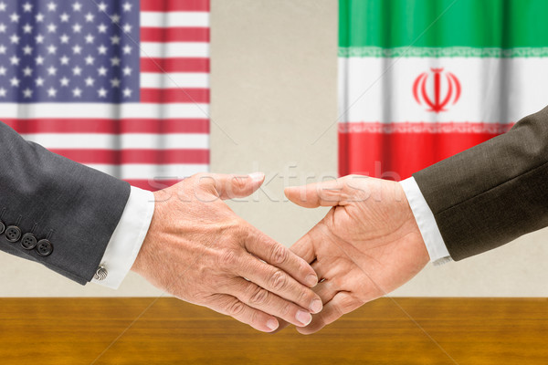 USA Iran serrer la main affaires mains succès Photo stock © Zerbor