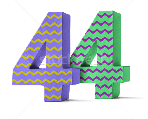 Colorful Paper Mache Number on a white background  - Number 44 Stock photo © Zerbor