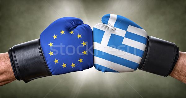 Boxe match européenne Union Grèce affaires Photo stock © Zerbor