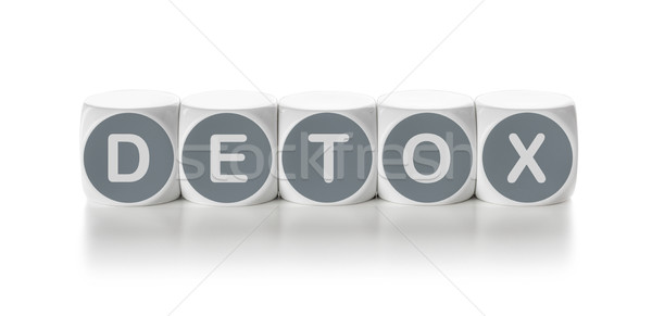 Letter dice on a white background - Detox Stock photo © Zerbor