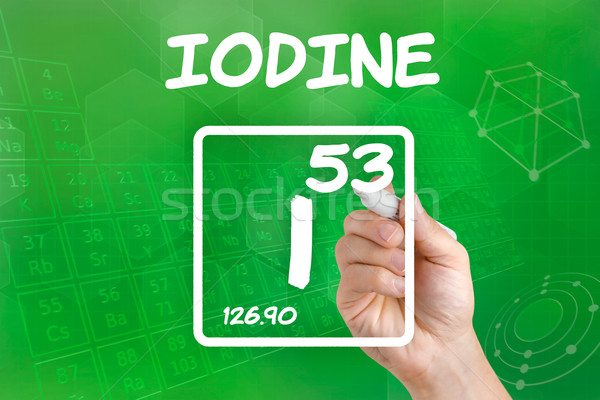 Symbol for the chemical element iodine Stock photo © Zerbor
