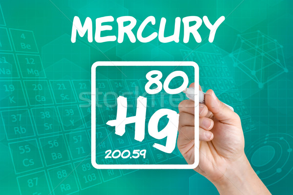 Symbol For The Chemical Element Mercury Stock Photo Zerbor