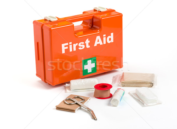 First Aid Kit with dressing material Stock photo © Zerbor