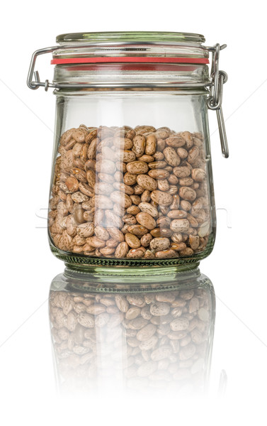 Pinto beans in a jar Stock photo © Zerbor