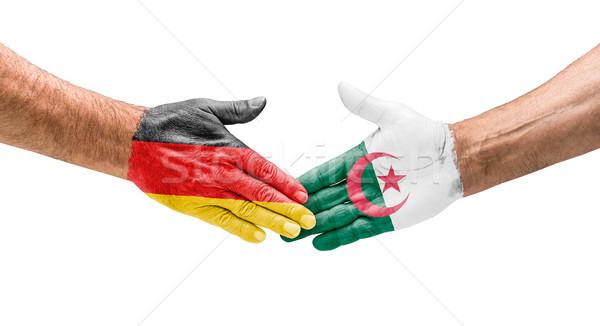 рукопожатие Германия Алжир стороны заседание спорт Сток-фото © Zerbor