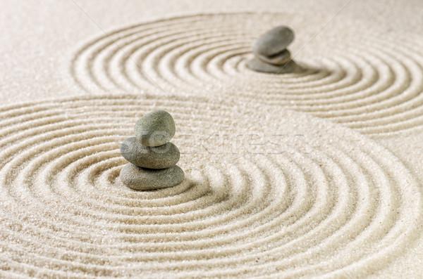 Japán zen kert kő minta kövek Stock fotó © Zerbor