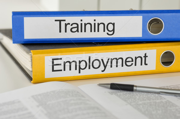 Folders with the label Training and Employment Stock photo © Zerbor