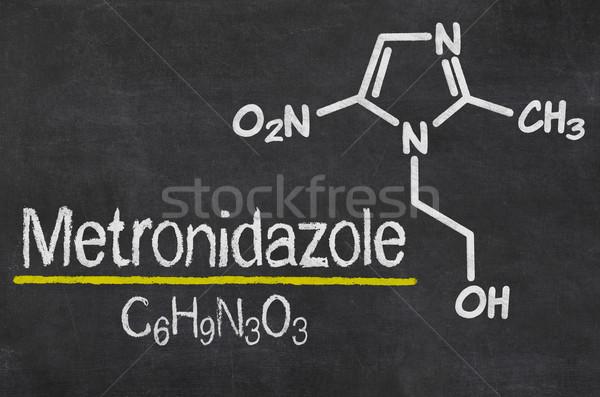 Lousa químico fórmula tecnologia assinar preto Foto stock © Zerbor