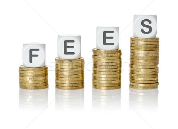 Coin stacks with letter dice - Fees Stock photo © Zerbor