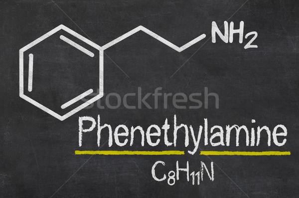 Pizarra químicos fórmula tecnología escrito negro Foto stock © Zerbor
