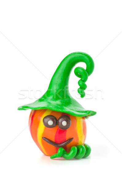 Handmade modeling clay pumpkin figure Stock photo © Zerbor