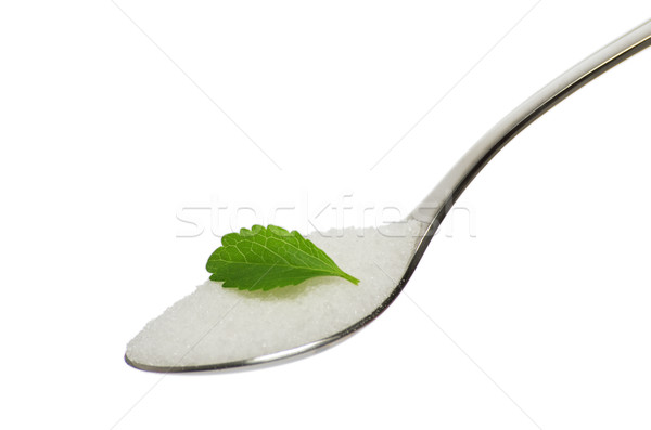 Teáskanál cukor levél étel egészség hegy Stock fotó © Zerbor
