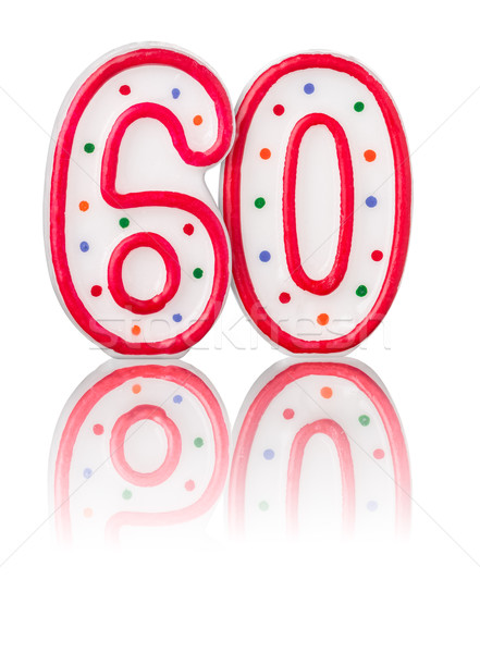 Red number 60 with reflection Stock photo © Zerbor