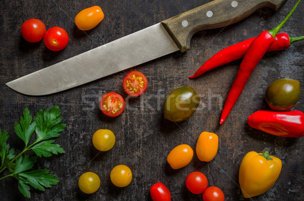Top view of colorful fresh vegetables Stock photo © Zerbor