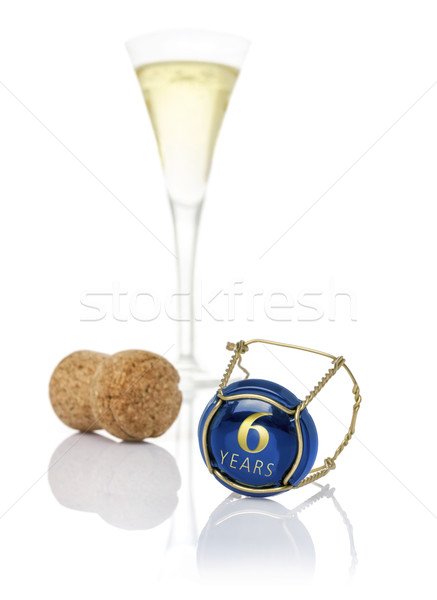 Champagne cap with the inscription 6 years Stock photo © Zerbor