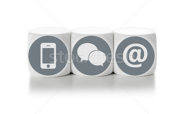 Letter dice on a white background - Contact us Stock photo © Zerbor