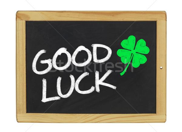 good luck on a blackboard Stock photo © Zerbor