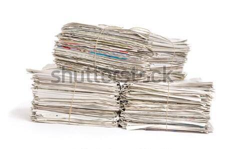 Periódicos periódico noticias comunicación lectura Foto stock © Zerbor