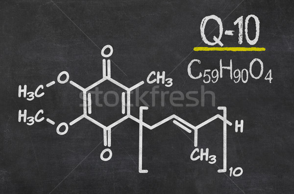 Blackboard with the chemical formula of coenzyme q10 Stock photo © Zerbor