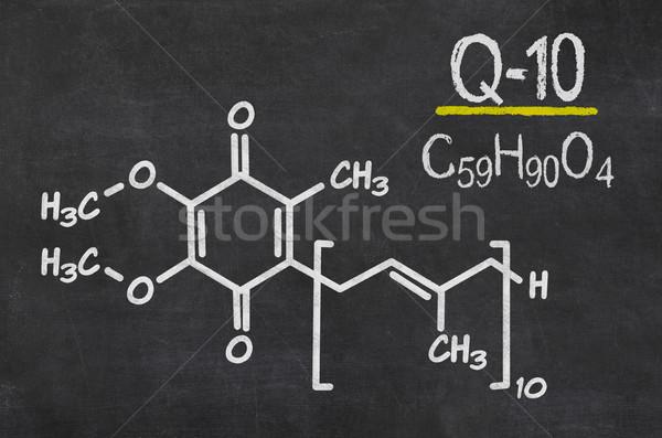 Blackboard chemische formule technologie schrijven wetenschap Stockfoto © Zerbor