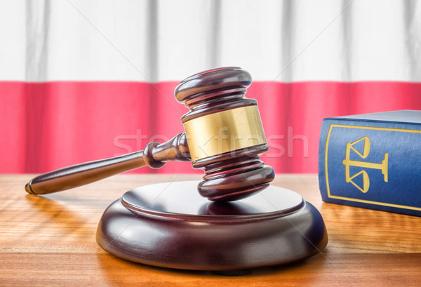 A gavel and a law book - Poland Stock photo © Zerbor