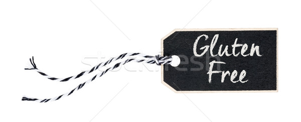 Black tag on a white background with the text Gluten free Stock photo © Zerbor