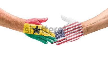 рукопожатие Гондурас Эквадор стороны заседание спорт Сток-фото © Zerbor