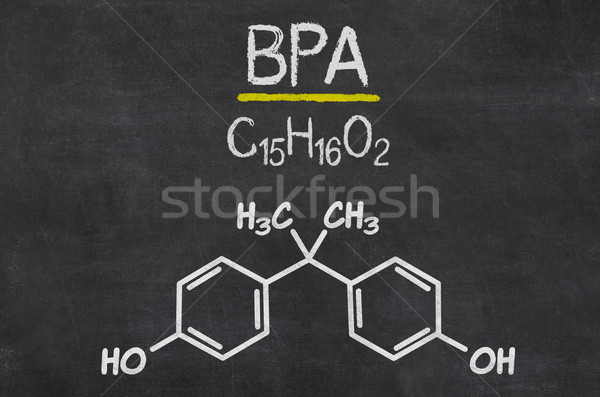 Blackboard with the chemical formula of BPA Stock photo © Zerbor