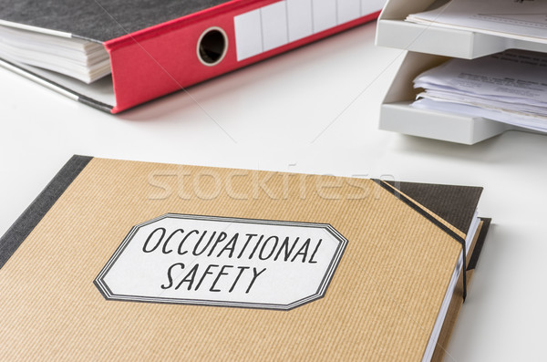 A folder with the label Occupational safety Stock photo © Zerbor