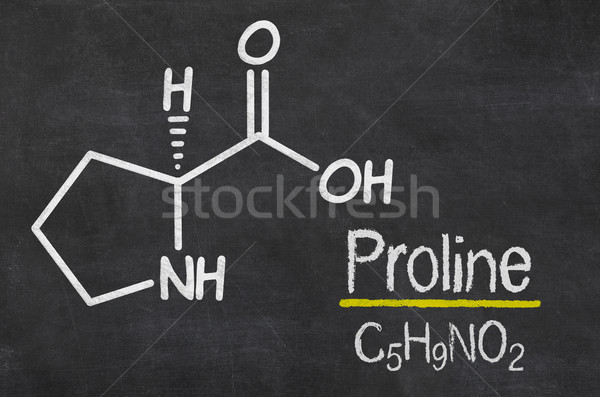 Blackboard with the chemical formula of Proline Stock photo © Zerbor