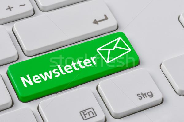 Clavier vert bouton bulletin bureau internet Photo stock © Zerbor