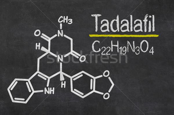 Blackboard with the chemical formula of Tadalafil Stock photo © Zerbor