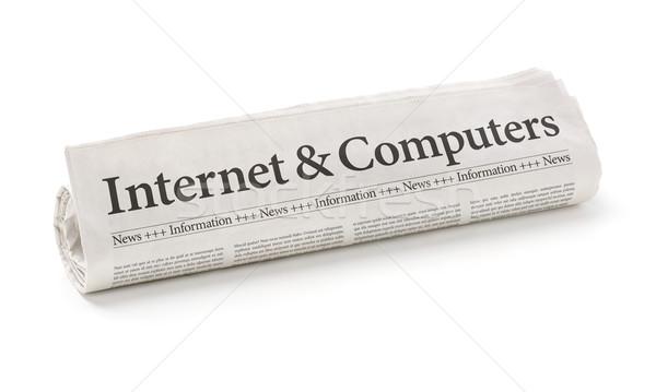 Gazete başlık Internet bilgisayarlar bilgisayar Stok fotoğraf © Zerbor