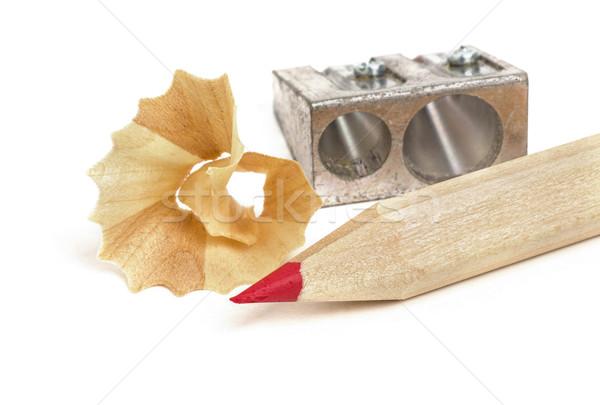 Pastel temperówka drewna farbują metal piśmie Zdjęcia stock © Zerbor