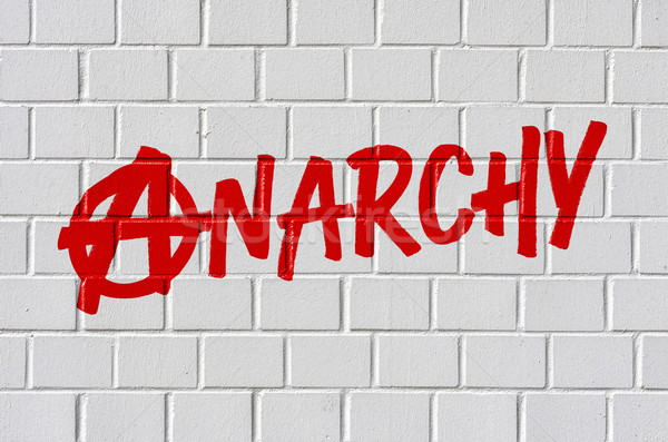Graffiti on a brick wall - Anarchy Stock photo © Zerbor