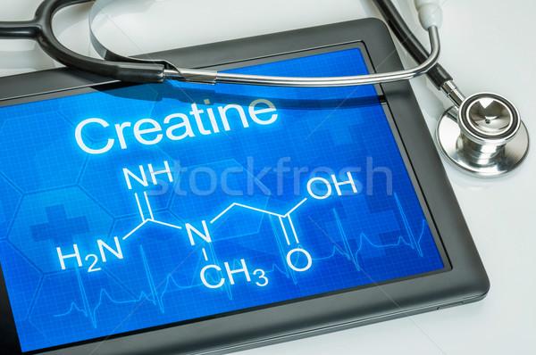 Tableta químicos fórmula ordenador médico salud Foto stock © Zerbor