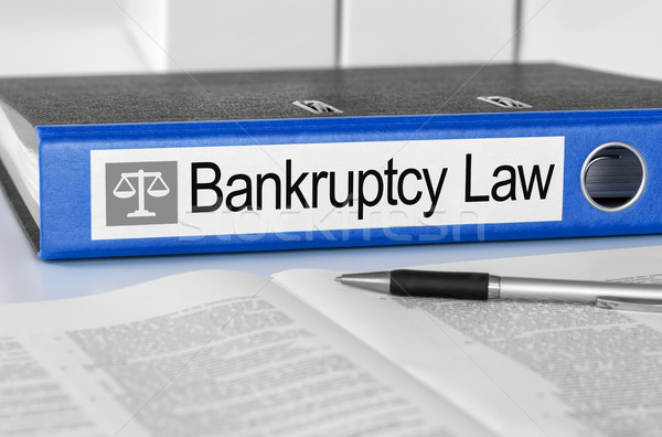 Blue folder with the label Bankruptcy Law Stock photo © Zerbor