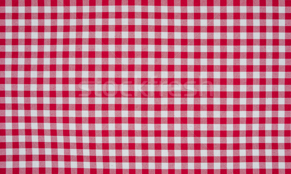 Red and white checkered tablecloth Stock photo © Zerbor