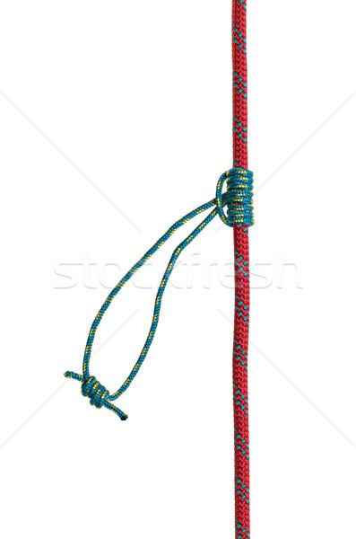 узел безопасности веревку безопасности кружево остановки Сток-фото © Zerbor