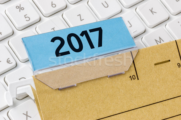 A brown file folder labeled with 2017 Stock photo © Zerbor