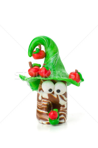 Handmade modeling clay figure with apples Stock photo © Zerbor