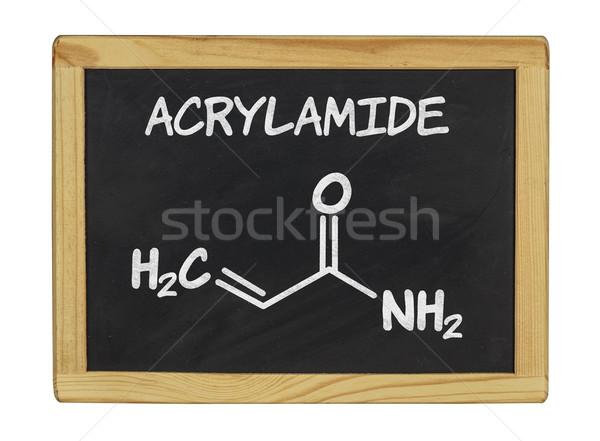 chemical formula of acrylamid on a blackboard Stock photo © Zerbor