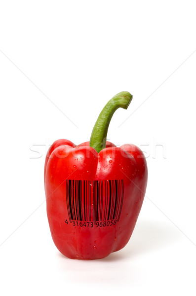 red bell pepper with barcode Stock photo © Zerbor