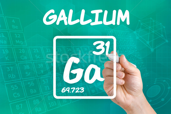 Symbol for the chemical element gallium Stock photo © Zerbor